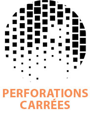perforations carrées