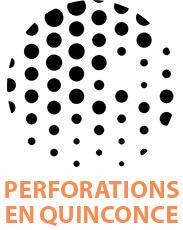 perforations en quinconce