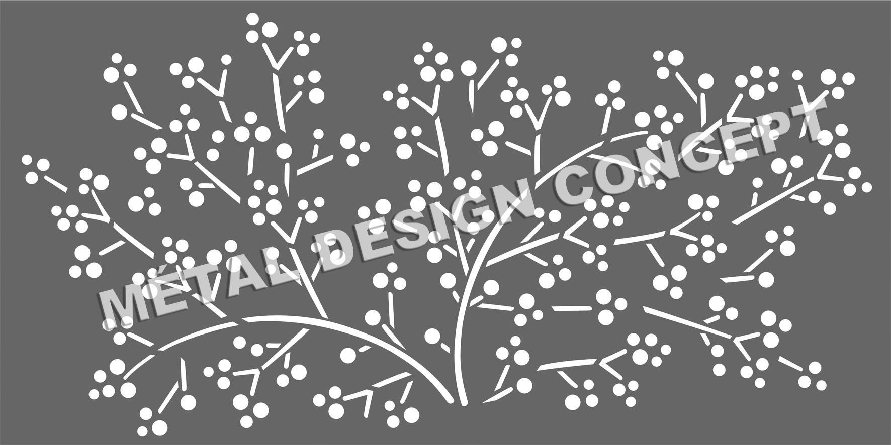 motif tole perforée décorative laser