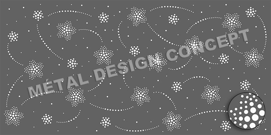 tole perforée décorative PISTE AUX ETOILES 01