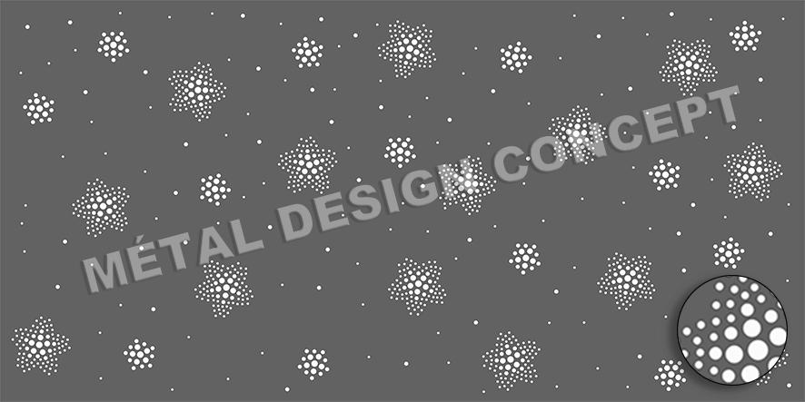 tole perforée décorative PISTE AUX ETOILES 03