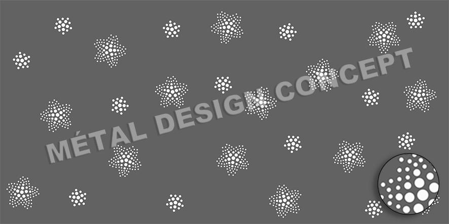 tole perforée décorative PISTE AUX ETOILES 04